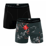 Muchachomalo Men short 2-pack rise and shine zwart
