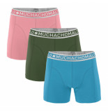Muchachomalo Men 3-pack short solid/solid/solid roze