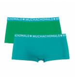 Muchachomalo Ladies 2-pack short solid/solid blauw