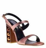 Ponche Sandalen op hak koper