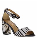 Maria Lya Dames sandalen zeebra wit