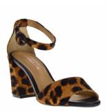 Maria Lya Dames sandalen panterprint beige