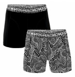 Muchachomalo Men 2-pack short swurl zwart