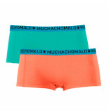Muchachomalo Ladies 2-pack short solid/solid roze