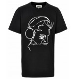Cost:bart T-shirt 14392 zwart
