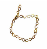 2 THE MOON 'N BACK Golden little hearts bracelet goud