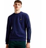Lyle and Scott Taped sweatshirt blauw