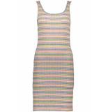 Only Onltracey s/l dress jrs 15195756 light grey mela/neon multi grijs