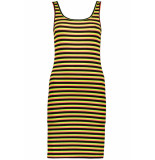 Only Onltracey s/l dress jrs 15195756 black/neon red zwart
