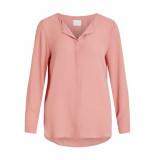 VILA Vilucy l/s shirt noos 14044253 brandied apricorn roze