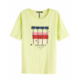 Maison Scotch T-shirt 150211 geel