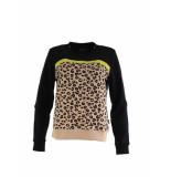 Colourful Rebel Leopard Tape Sweat zwart
