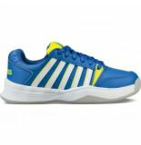 K-Swiss Tennisschoen boys court smash carpet strong blue neon citron white blauw