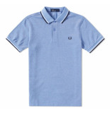 Fred Perry Twin tipped polo prince blue oxfd blauw