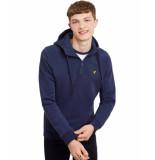 Lyle and Scott Softshell jersey 1/4 zip hoode blauw