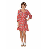 Circle of Trust Luna dress red rules rood