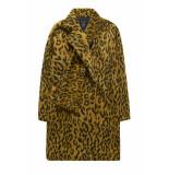 10 Feet Fur effect animal jacq scarf geel