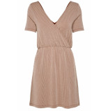 Only Onlshirley s/s wrap dress jrs 15180177 ketchup/cloud dancer oranje