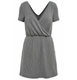 Only Onlshirley s/s wrap dress jrs 15180177 black/cloud dancer zwart