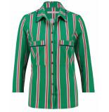 Studio Anneloes Blouse 03436 poppy pyama strip groen
