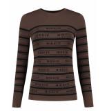 Nikkie Pullover n7-556 jolie top bruin