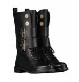 Nikkie Veter boots n9-633 coin boots zwart