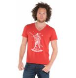 Tee Library T-shirt met korte mouwen rood