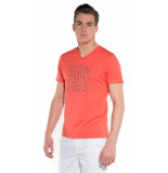 British Indigo T-shirt met korte mouwen rood