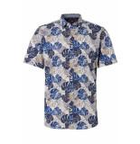 Tom Tailor Overhemd met patroon 1010954xx10 17720 blauw