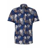 Tom Tailor Overhemd met patroon 1010954xx10 17722 blauw
