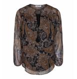 Co'Couture 95134 boho blouse bruin