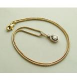 Casio Gouden druppel hanger met ketting geel goud
