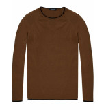 Scotch & Soda Pullover in cashmere blend quality bruin