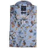 Profuomo Ppqh3a0052 business overhemden met lange mouwen 100% katoen blauw