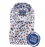 Ledûb Business overhemden met extra lange mouwen 100% katoen wit