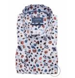 Ledûb Business overhemden met lange mouwen 100% katoen blauw
