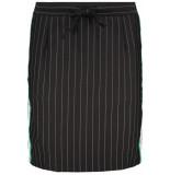 Zoso Augusta 2 pinstripe skirt black/green zwart