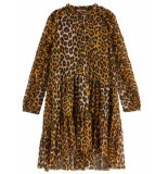 Scotch R'Belle Scotch r'belle jurk 151842 bruin
