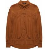 10 Feet Western inspired blouse bruin