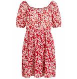 VILA Vijasmin s/s dress /rx 14055775 lollipop/flower print rood