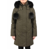 Moose Knuckles Stirling parka lds army/zwart