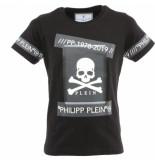 Philipp Plein Junior t-shirt round neck ss tm zwart