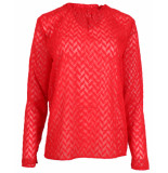 Another Label Blouse d26-419005 pyramides rood