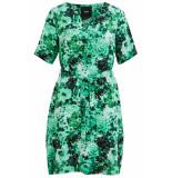 Object Objsana jolia south 2/4 dress 104 div 23031197 fern green/aop groen