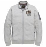 PME Legend Psw195404 921 zip sweat jacket light grey melee blauw