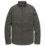 PME Legend Psi195206 9066 long sleeve shirt poplin print raven grijs