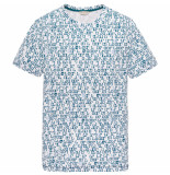 Cast Iron Ctss195314 7003 r-neck printed slub jersey bright white wit