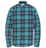 Cast Iron Csi195608 5233 long sleeve shirt yd check lyons blue blauw