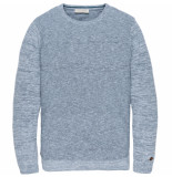 Cast Iron Ckw195401 5300 r-neck cotton mouline slub chambray blue blauw