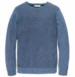 Cast Iron Ckw195401 5233 r-neck cotton mouline slub lyons blue blauw